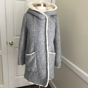 Zara Trafaluc Outerwear Wool Fleece Coat